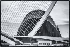 La città delle arti e delle scienze a Valencia, Spagna Fotografia Stock