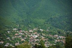 La città dello sheki nell'Azerbaijan Immagine Stock Libera da Diritti