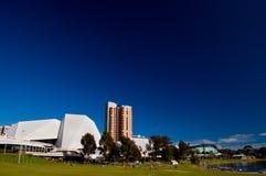 La città di Adelaide dalla più vecchia sosta Immagini Stock