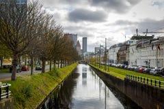 La città di Aia nei Paesi Bassi Fotografia Stock