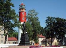 La città di Baltiysk dal Mar Baltico, Russia Fotografia Stock Libera da Diritti