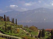 La città di Bellagio in Italia sul lago Como Fotografia Stock