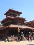 La città di Bhaktapur, Nepal Fotografia Stock Libera da Diritti
