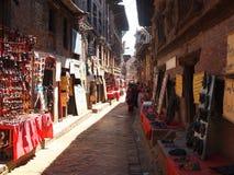 La città di Bhaktapur, Nepal Fotografie Stock Libere da Diritti