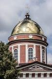 La città di Birsk La cupola della cattedrale della trinità santa Immagine Stock