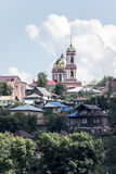 La città di Birsk Vista della cattedrale della trinità santa per Immagine Stock