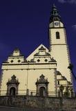 La città di Bystrzyca Klodzka Fotografie Stock