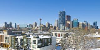 La città di Calgary Fotografie Stock Libere da Diritti
