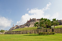 La città di Cartagine mura la Colombia Immagini Stock