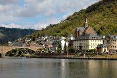 La città di Cochem, Germania sul fiume della Mosella Fotografia Stock