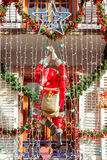 La città di Colmar è decorata per il Natale Immagini Stock Libere da Diritti