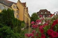 La città di Colmar un giorno nuvoloso Fotografia Stock Libera da Diritti