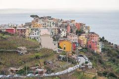 La città di Corniglia fotografia stock libera da diritti