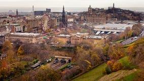 La città di Edimburgo Fotografie Stock Libere da Diritti