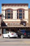 La città di febbre dell'oro di Custer nel Black Hills del Sud Dakota fotografia stock libera da diritti