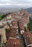 La città di Frias Burgos, Spagna immagini stock libere da diritti