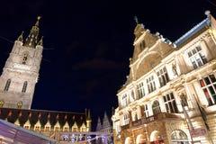 La città di Gand nel Belgio Fotografia Stock Libera da Diritti