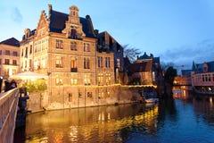 La città di Gand nel Belgio Immagini Stock Libere da Diritti