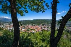 La città di Gap di estate Hautes-Alpes, alpi, Francia Fotografia Stock Libera da Diritti