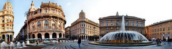 La città di Genova, panorama fotografie stock libere da diritti