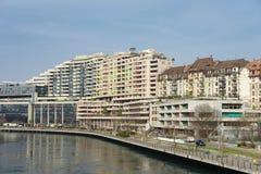 La città di Ginevra Immagine Stock Libera da Diritti