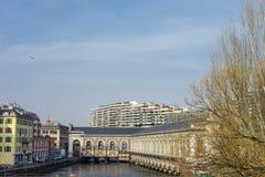 La città di Ginevra Immagini Stock Libere da Diritti
