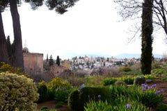La città di Granada Fotografia Stock