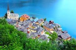 La città di Hallstatt. Fotografia Stock Libera da Diritti