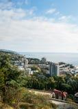 La città di Jalta crimea Fotografie Stock Libere da Diritti
