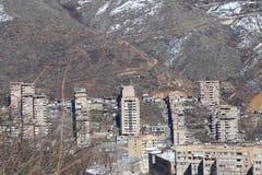 La città di Kapan in Armenia del sud immagini stock libere da diritti