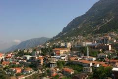 La città di Kruje, Albania Fotografia Stock Libera da Diritti