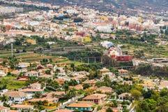 La città di La Orotava domina, Tenerife, Spagna Fotografia Stock Libera da Diritti