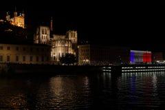 La città di Lione commemora il giorno di Bastille Immagine Stock Libera da Diritti