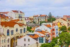 La città di Lisbona alloggia la vista, Portogallo Fotografia Stock Libera da Diritti