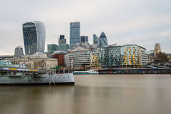 La città di Londra con i suoi grattacieli magnifici Fotografia Stock Libera da Diritti