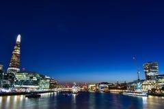La città di Londra le viste ininterrotte di 360 gradi attraverso la città di Londra fotografie stock