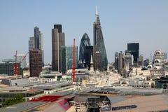 La città di Londra una dei centri principali della vista globale di finance Fotografie Stock