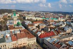 La città di Lviv Fotografia Stock Libera da Diritti