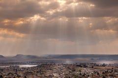 La città di Maseru, Lesotho fotografia stock libera da diritti