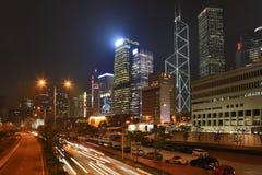La città di notte splende Fotografia Stock Libera da Diritti