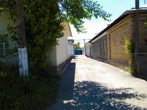 La città di Oš via Fotografie Stock Libere da Diritti