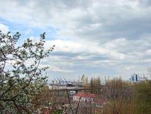 La città di Odessa l'ucraina Panorama delle vie e dei monumenti storici centrali Fotografia Stock