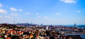 La città di Qingdao Immagine Stock Libera da Diritti