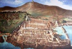 La città di Ragusa nei periodi medievali fotografia stock libera da diritti
