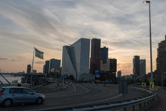 La città di Rotterdam Immagini Stock