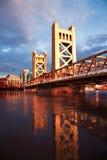 La città di Sacramento California Fotografie Stock Libere da Diritti