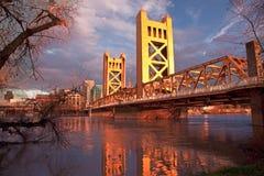 La città di Sacramento California fotografie stock