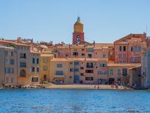 La città di Saint Tropez, Francia immagine stock libera da diritti