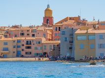 La città di Saint Tropez, Francia fotografia stock libera da diritti