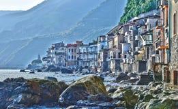 La città di Scilla nella provincia di Reggio Calabria, Italia fotografie stock
